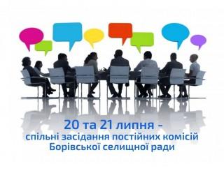 20 та 21 липня відбудуться засідання постійних комісій селищної ради